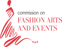 Commission on Fashion Arts and Events, dress design with three stars in red